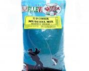 Das Ellevi X-Power Muschel Mix ist ein grobkörniges, blaues Grundfutter mit getrockneten und zermahlenen Muscheln.