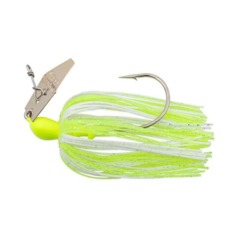 Z-Man Original Chatterbait Chartreuse White Gold Blade