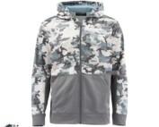 Simms Challenger Hoody Full Zip Camo Grey