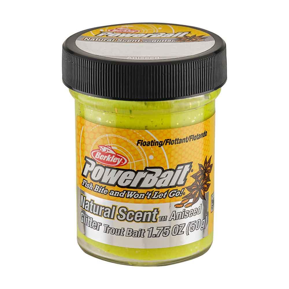 Berkley Powerbait Natural Glitter Trout Bait White